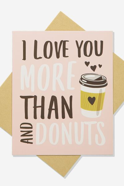 Premium Love Card, SCENTED LOVE YOU MORE THAN DONUTS