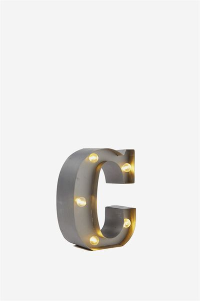Mini Marquee Letter Lights 10cm, SILVER C