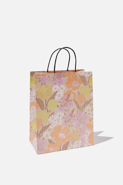 Get Stuffed Gift Bag - Medium, SAND GOLDIE FLORAL