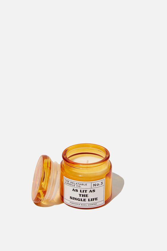 Mini Glass Candle, SINGLE LIFE