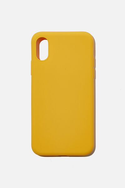 Recycled Phone Case iPhone X, Xs, MUSTARD