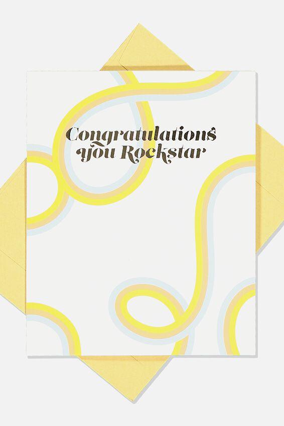 Congratulations Card, CONGRATULATIONS ROCKSTAR