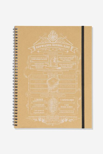A4 Spinout Notebook - 120 Pages, LCN HARRY POTTER SCHOOL LIST