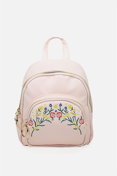 Mini Madrid Backpack, BLUSH WITH FLOWER