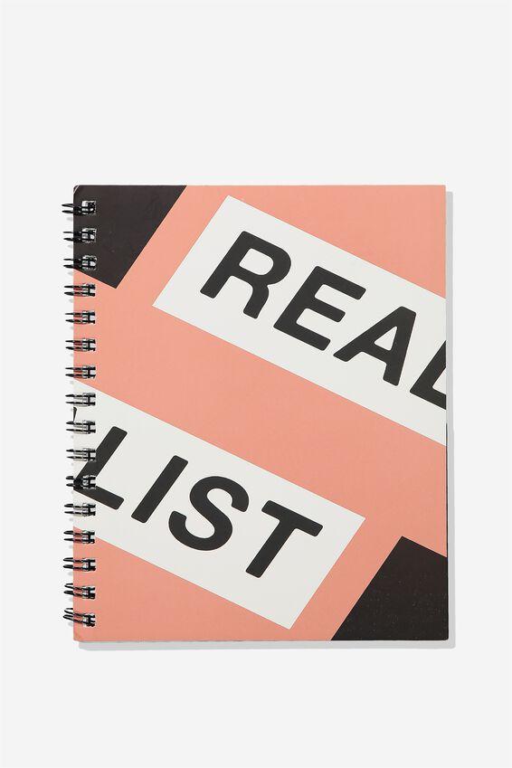 A5 Campus Notebook - Rec, REALIST PINK