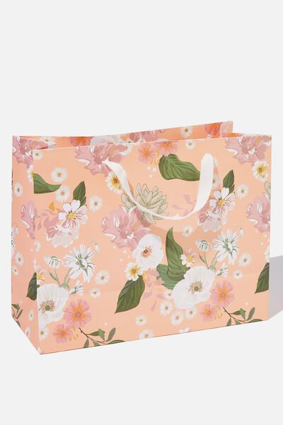 Stuff It Gift Bag - Medium, PINK FLORAL