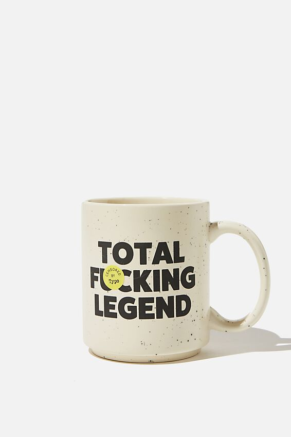 Daily Mug, ECRU SPECKLED TOTAL F LEGEND!!