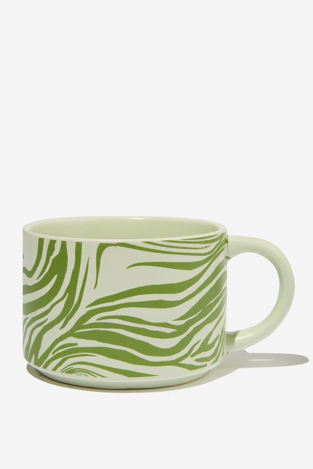 Big Hit Mug, WARPED ZEBRA GREEN