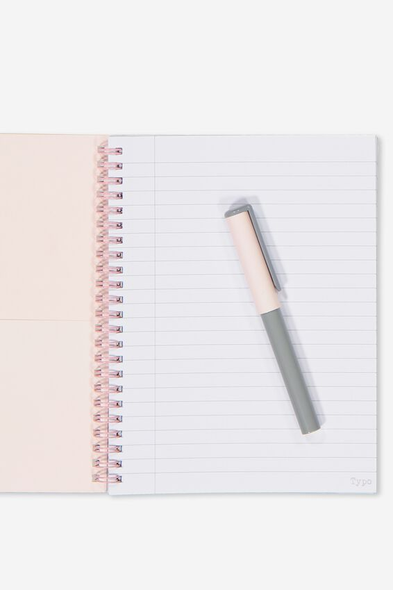 Small Spinout Notebook - V, PEACH OMBRE HUGS