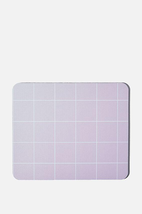 Neoprene Mouse Pad, HEATHER GRID