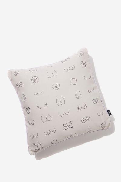 Printed Cushy Cushion, BOOBS