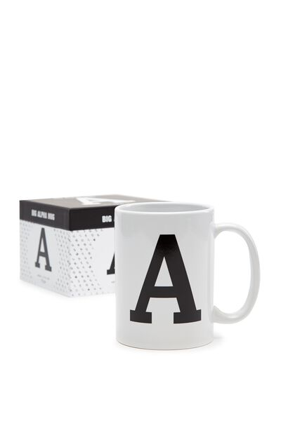 Big Alphabet Mug, BLACK A