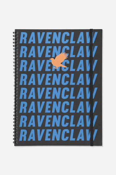 A4 Spinout Notebook - 120 Pages, LCN WB HP RAVENCLAW
