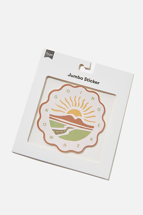 Jumbo Sticker, GOING NOWHERE
