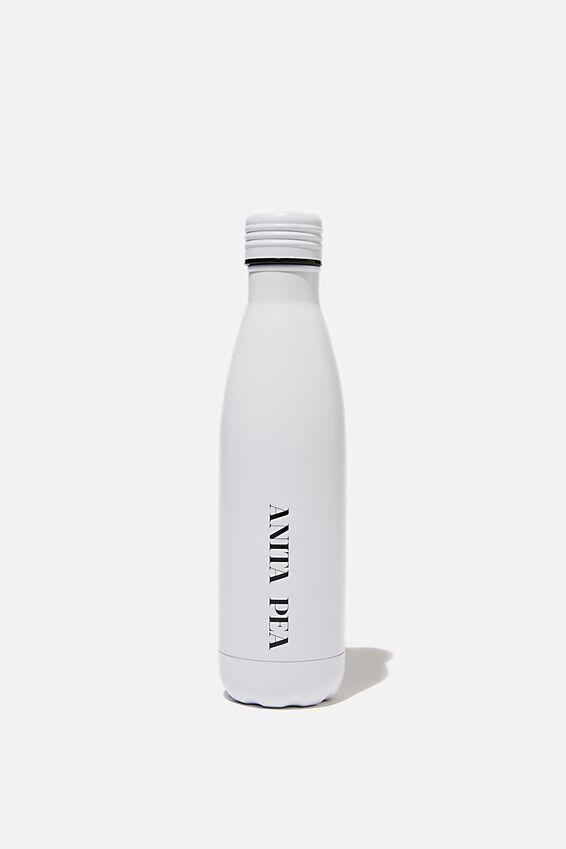 Metal Drink Bottle, WHITE