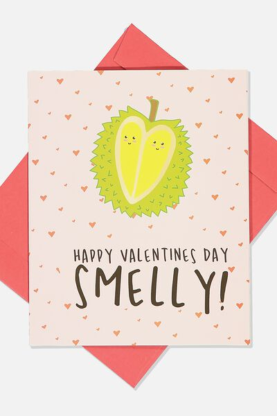 Valentines Day Card 2020, HAPPY VALENTINES SMELLY