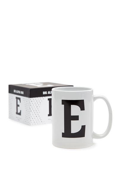 Big Alphabet Mug, BLACK E
