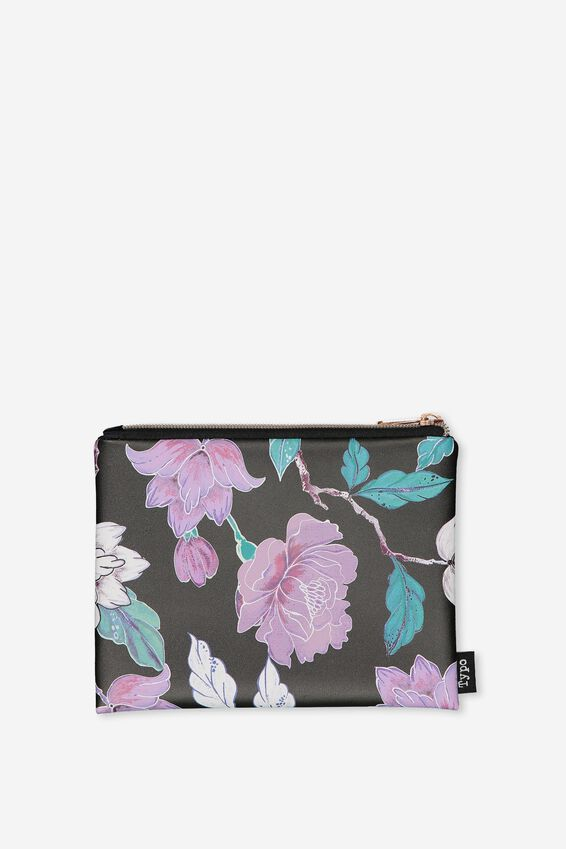 Pu Campus Pencil Case, LUSH FLORAL