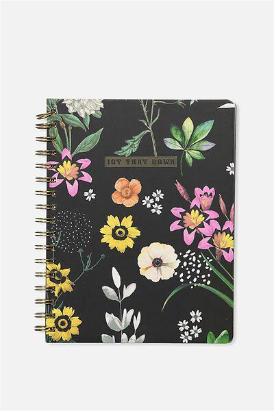 B5 Premium Spiral Notebook, FLORAL JOT THAT DOWN