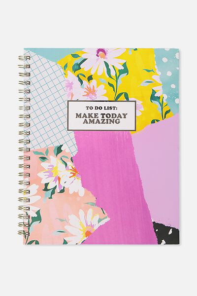 A4 Campus Notebook - 240 Pages, PATCHWORK MAKE TODAY AMAZING