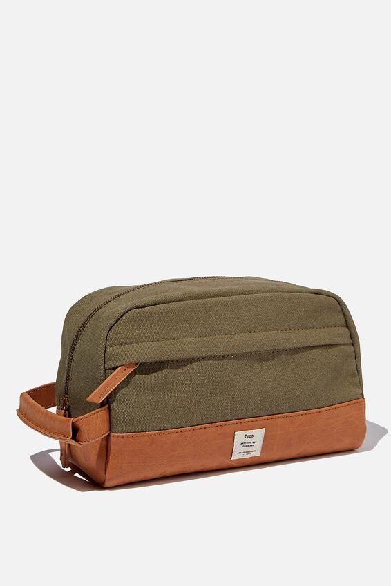 Heritage Dopp Bag, WASHED KHAKI W/ MID TAN