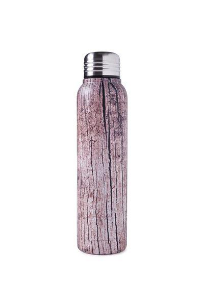 Small Metal Drink Bottle, WOOD GRAIN