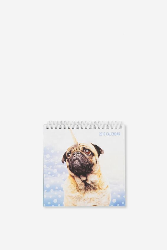 2019 Flip Desk Calendar, ANICORNS