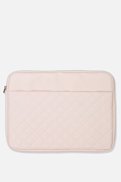 Take Charge 15 Inch Laptop Cover, BLUSH QUILTED DIAMONDS