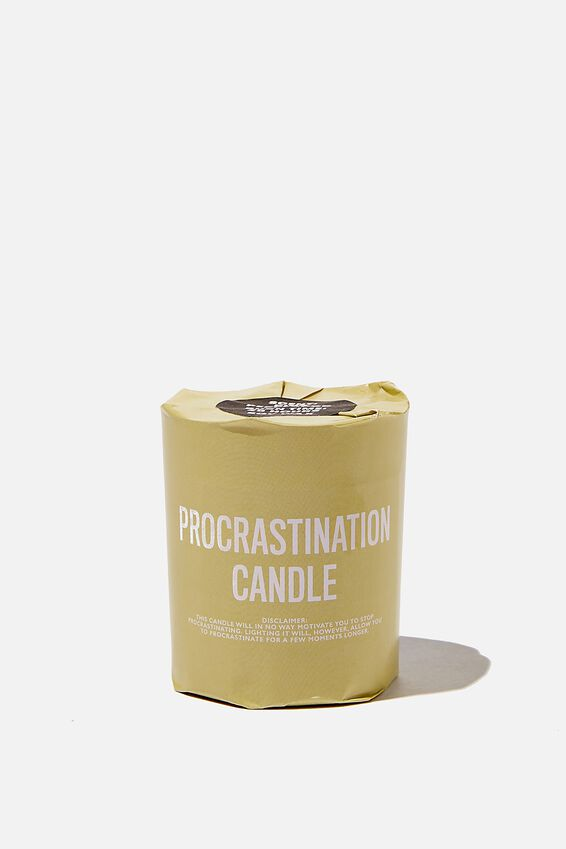 Talk To Me Candle Small, PROCRASTINATION CANDLE