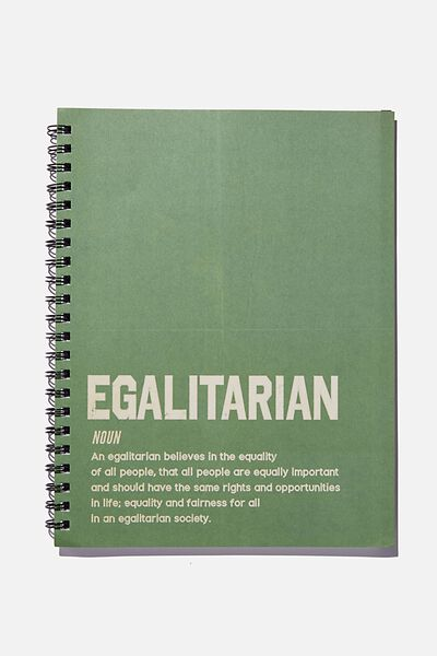 A4 Campus Notebook Recycled, EGALITARIAN DEFINITION GREEN