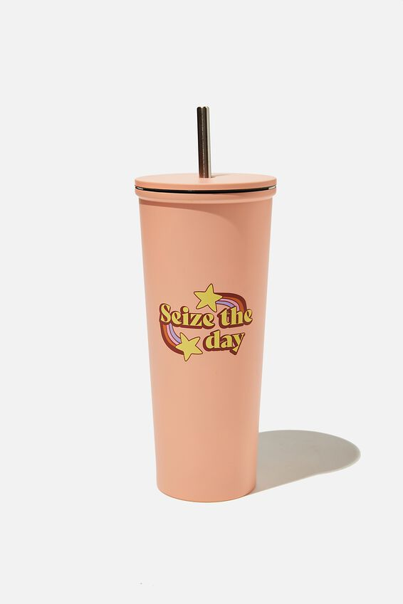 Metal Smoothie Cup, SEIZE THE DAY