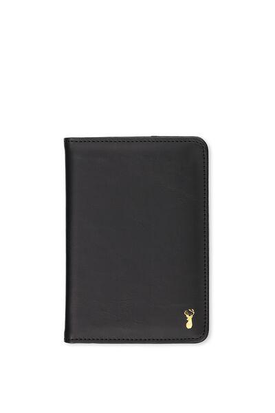 Buffalo Classic Passport Holder, BLACK
