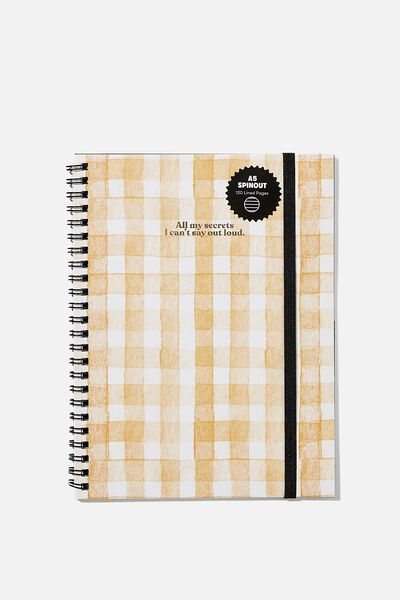 A5 Spinout Notebook Recycled, I CANT SAY OUTLOUD
