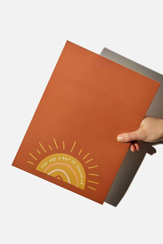 Large Fashion Card, RAY OF SUNSHINE RUST