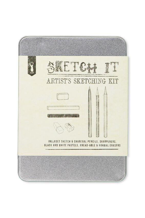 Sketch It Tin, GREY SKETCH