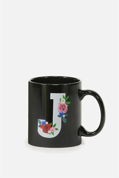 Alpha Anytime Mug, FLORAL ALPHA J