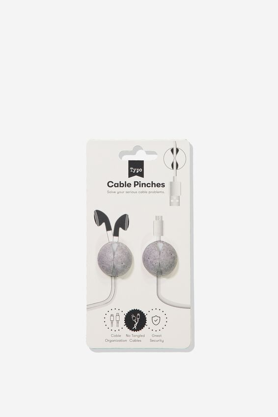 Cable Pinch 2 Pack, CONCRETE