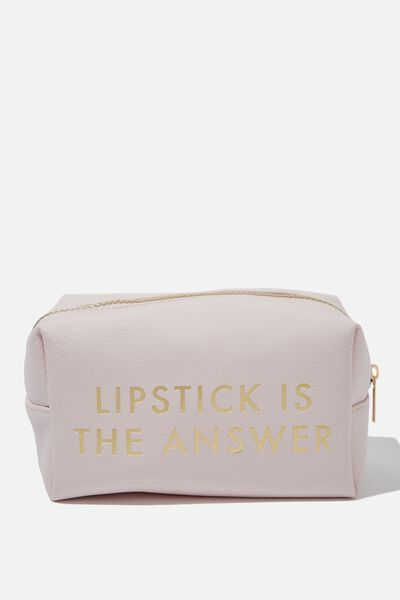 Made Up Cosmetic Bag, LIPSTICK IS THE ANSWER