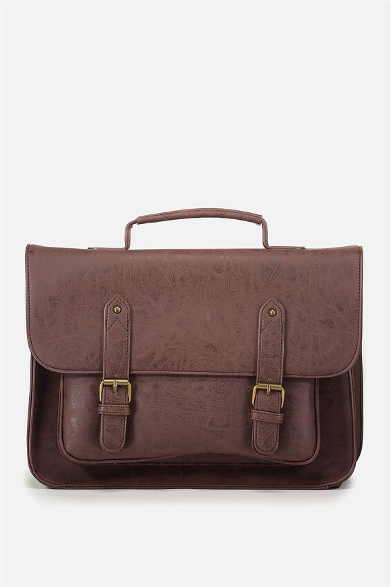 Satchel Bag, RICH TAN