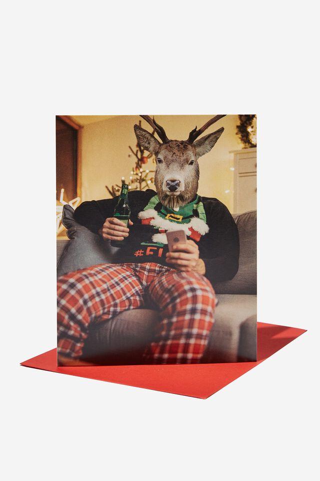 Christmas Card 2021, REINDEER RELAXING