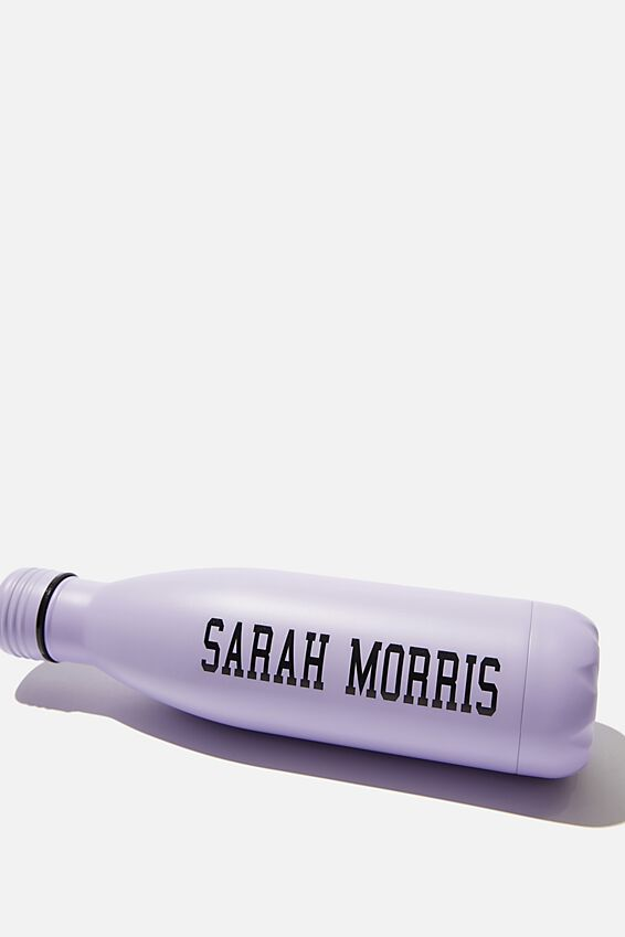 Personalised 500ml Metal Drink Bottle, LILAC