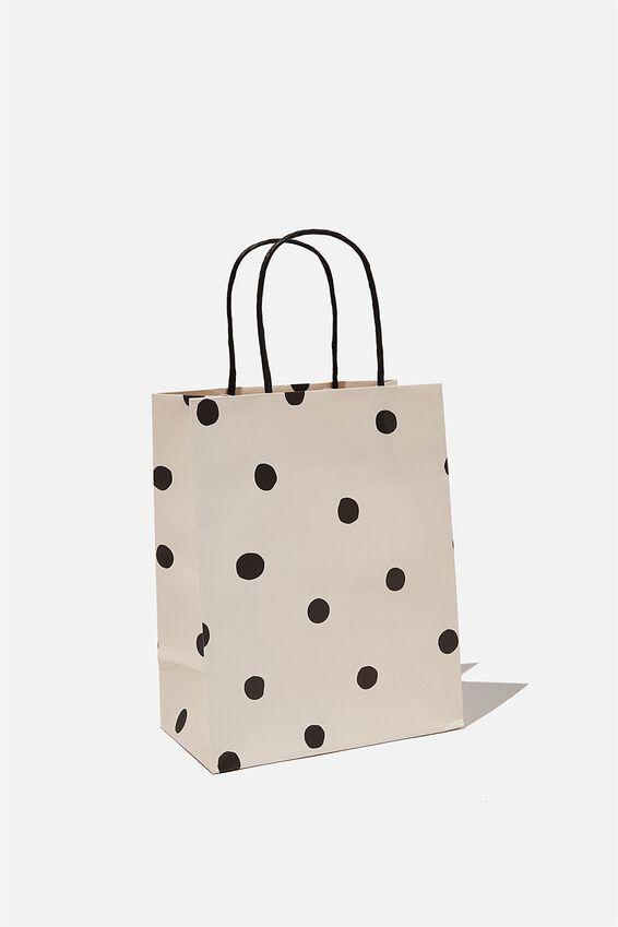 Get Stuffed Gift Bag - Small, OVERSIZED POLKA