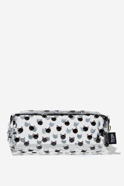 Clear Bailey Pencil Case, CAT YARDAGE