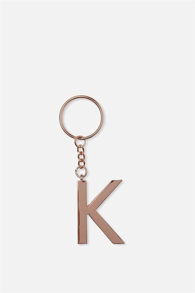 Alphabet Keyring, ROSE GOLD K