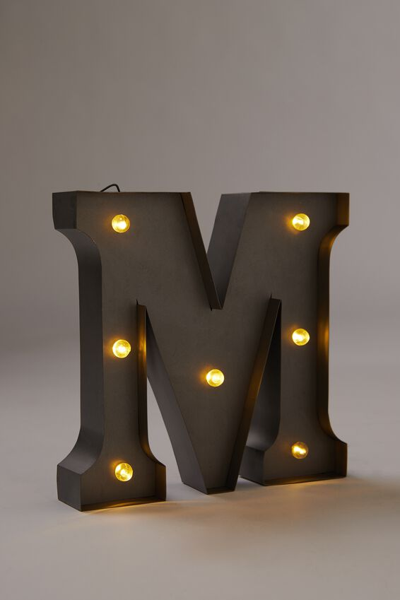 Midi Marquee Letter Lights 6.3inch, SILVER M