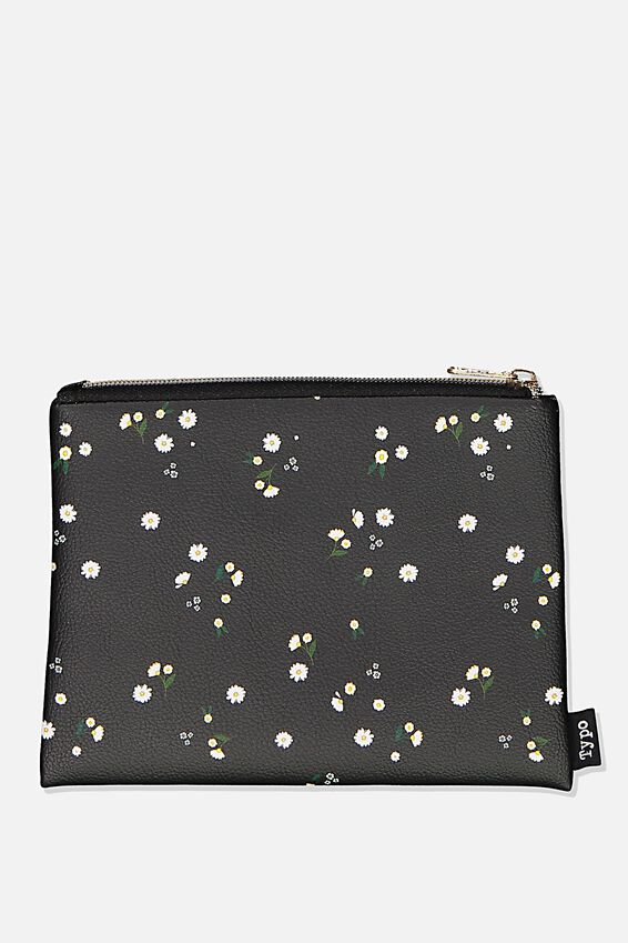 Pu Campus Pencil Case, MEADOW DAISY
