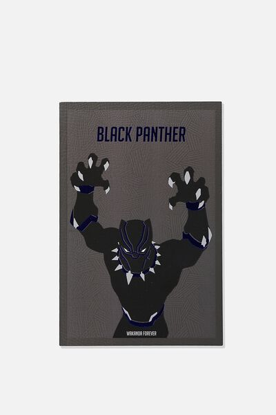 A5 Textured Notebook, LCN MARVEL BLACK PANTHER