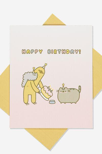 Funny Birthday Card, LCN PUSH CAKE