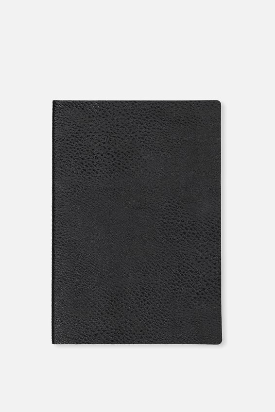 A5 Soft Cover Buffalo Journal - 176 Pages, BLACK