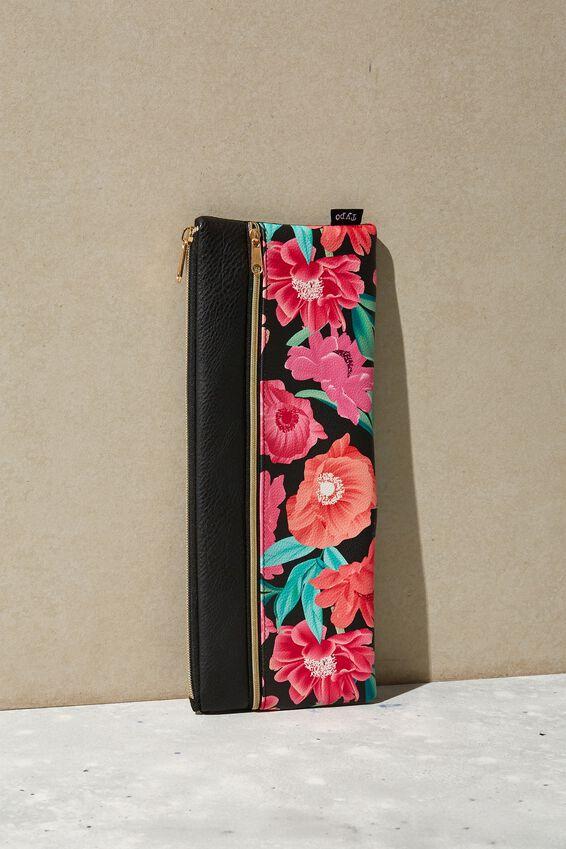 Patti Pencil Case, WILD PEONY FLORAL